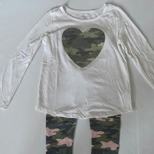 Children's Place Camo Legging and Matching Top